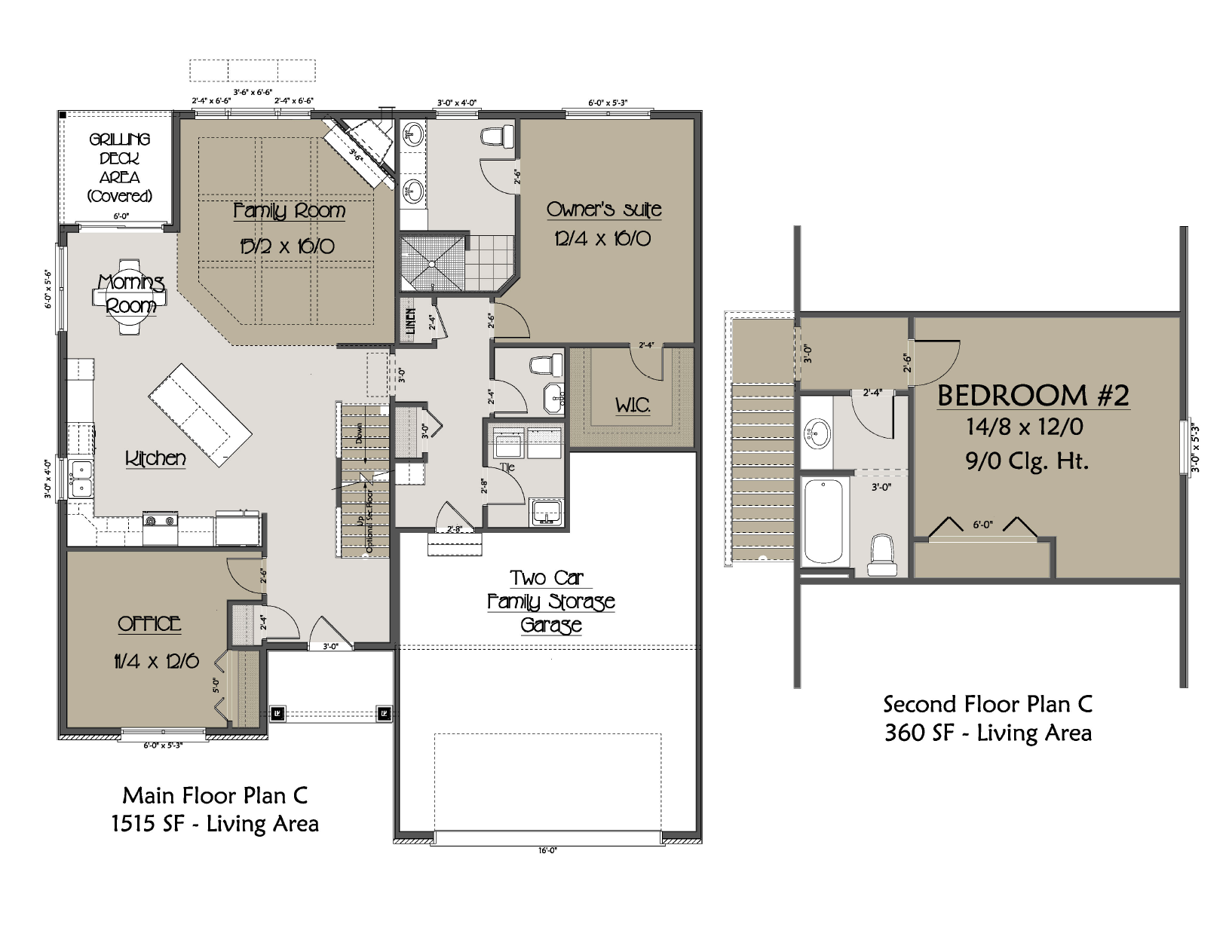 Cluster Home Plan C Floor Plan